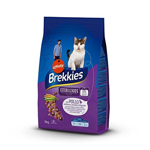 Brekkies Pienso para Gatos Gatos Esterilizados con Pollo y Verduras